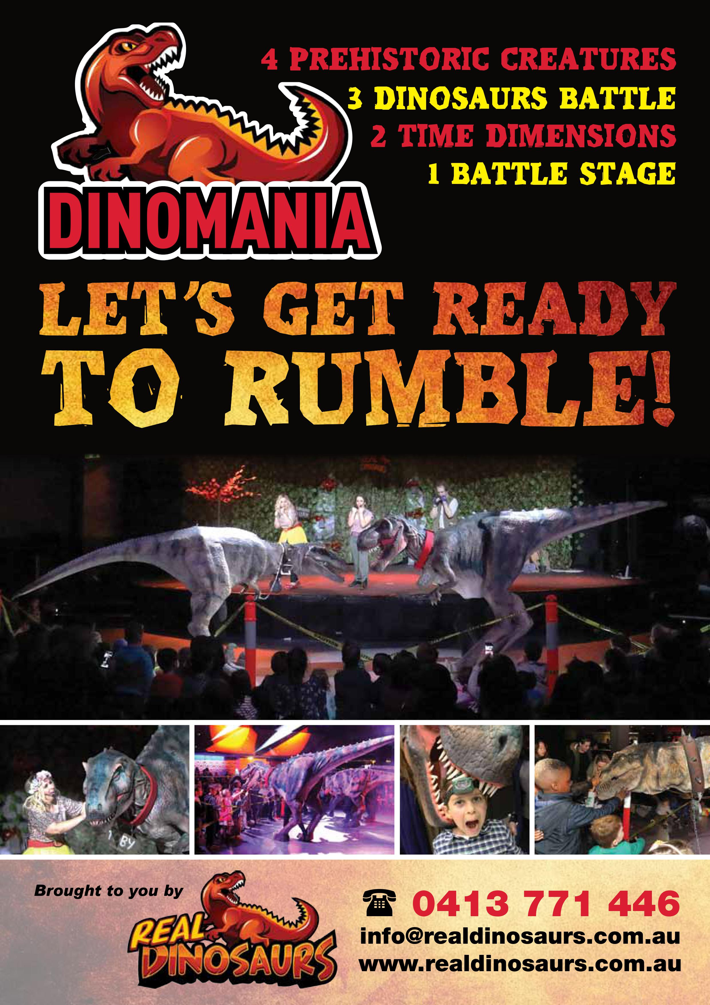 Dinomania Stage shows Melbourne