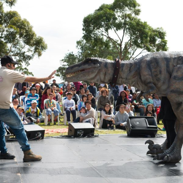 Dinosaur party dancing Melbourne